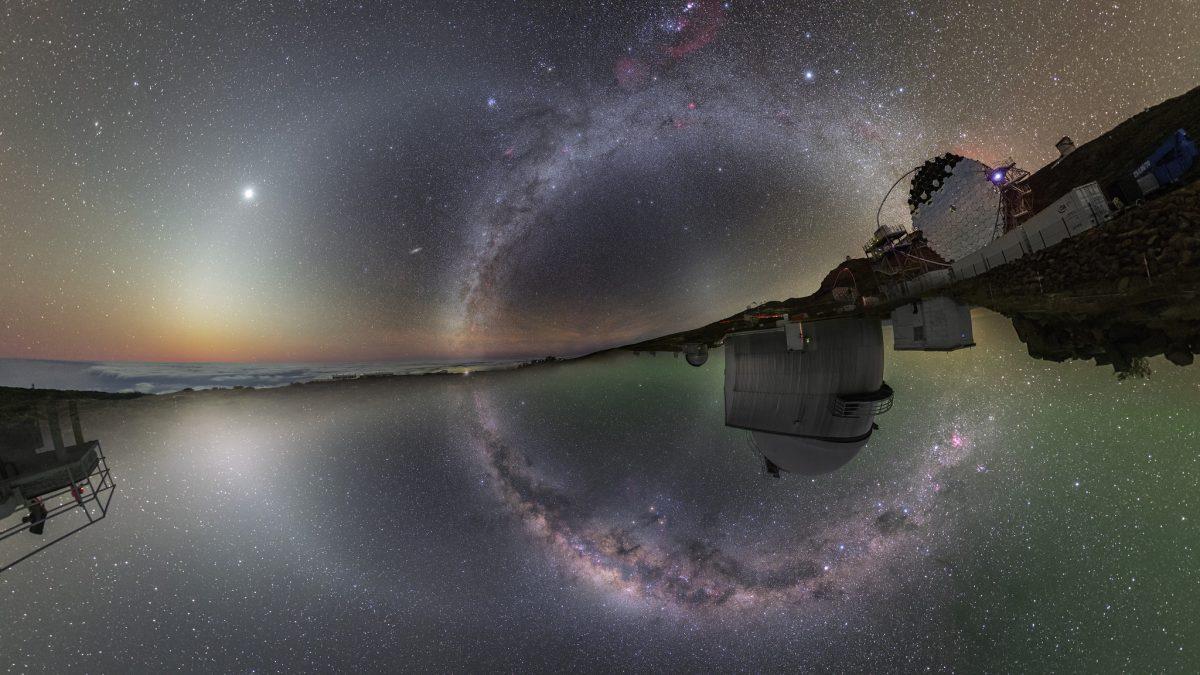 El cielo nocturno sobre dos hemisferios